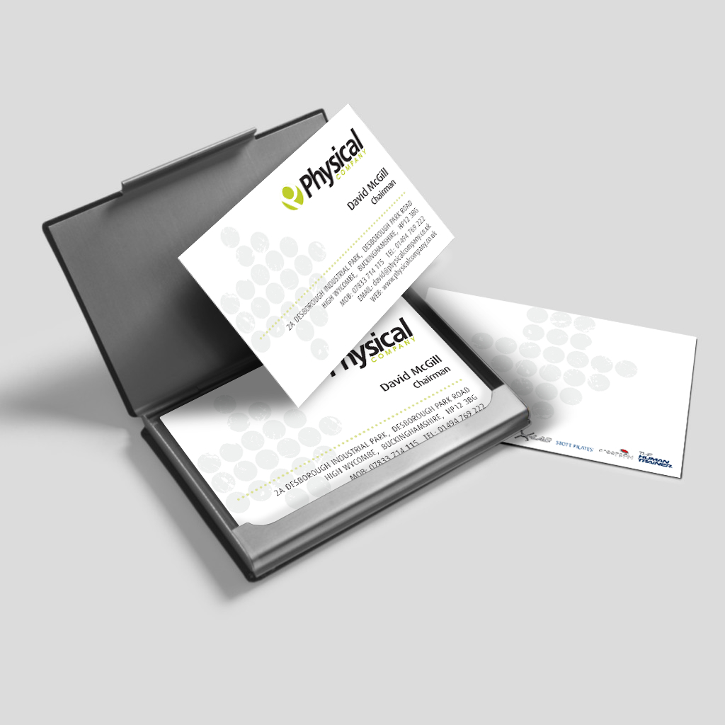 Physical-business-card-logo