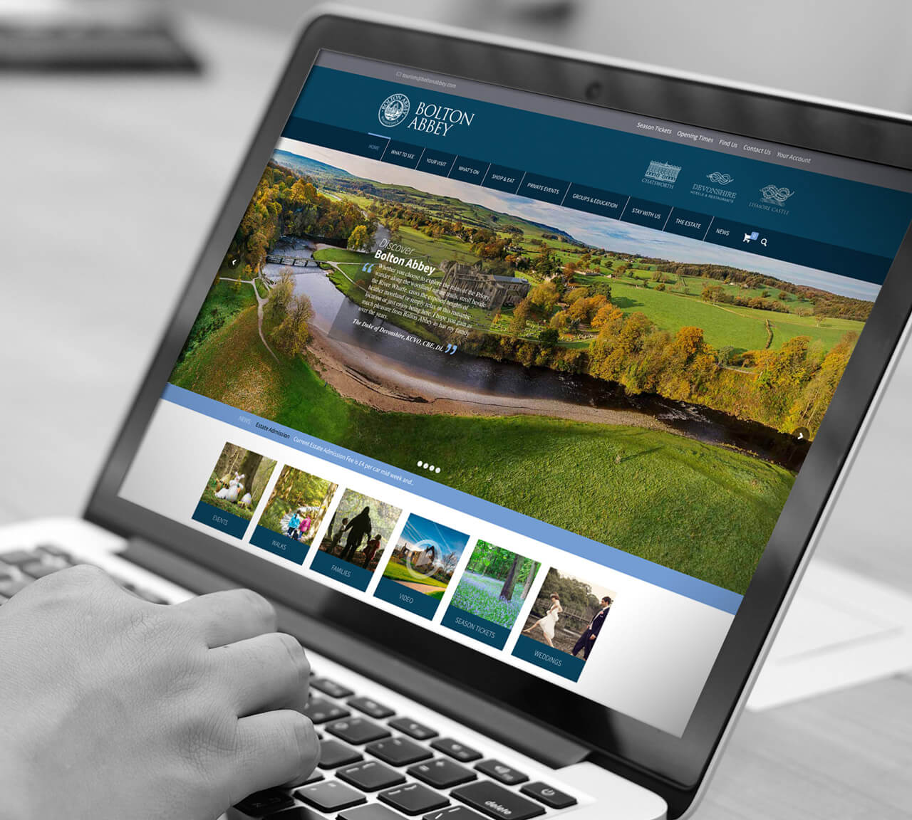 tig bolton abbey website design harrogate