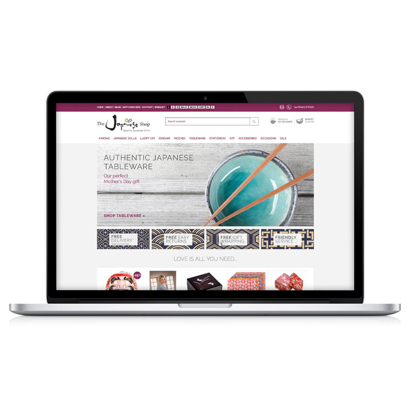 japanese shop website design yorkshire